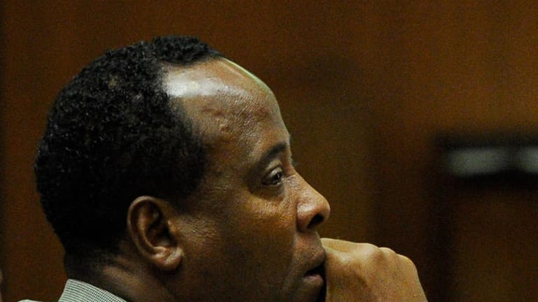 Dr Conrad Murray as his defence attorney gives his closing argument.