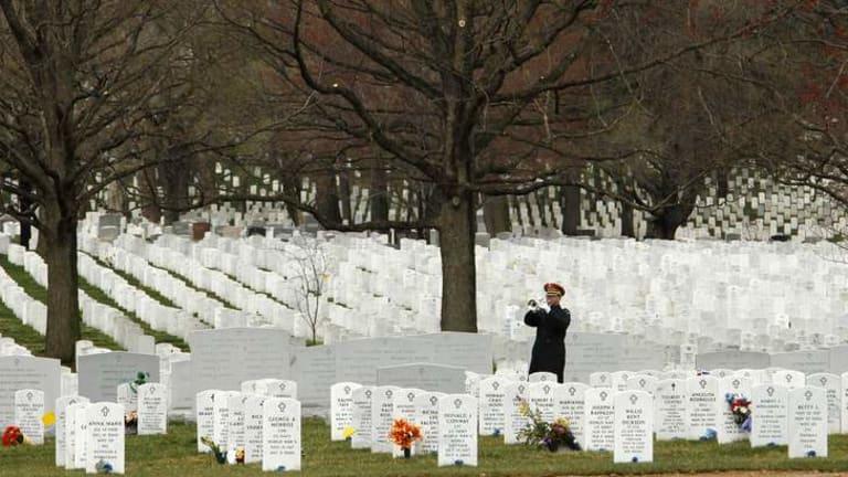 Arlington National Cemetery outside Washington in the US.