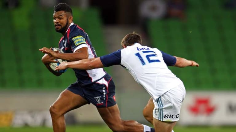 Attacking panache … Kurtley Beale makes a break for the Rebels against the Auckland Blues on Saturday. The Waratahs are feeling the loss of their former player – and not just on the field.