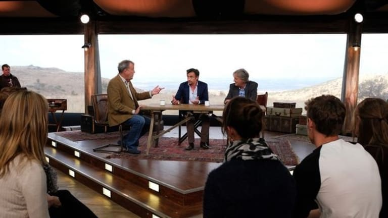 Jeremy Clarkson, Richard Hammond and James May filmed the first episode of <i>The Grand Tour</i> in a tent in the hills overlooking Johannesburg.