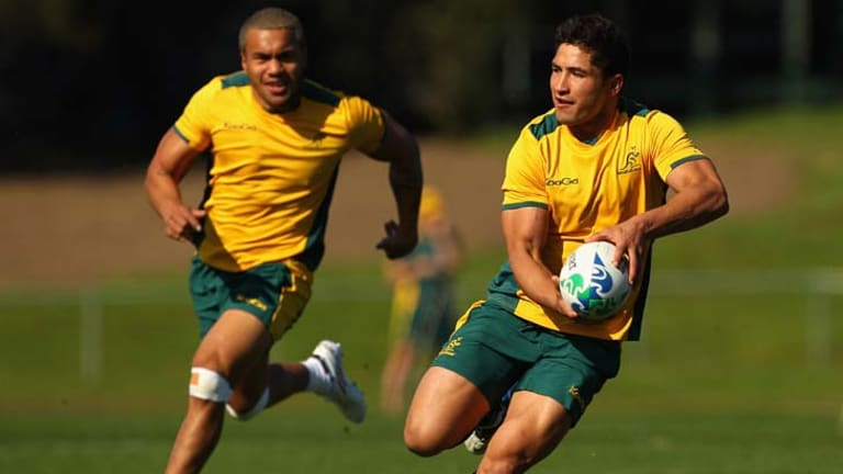 Back on top ... Anthony Fainga'a, right, and Digby Ioane.