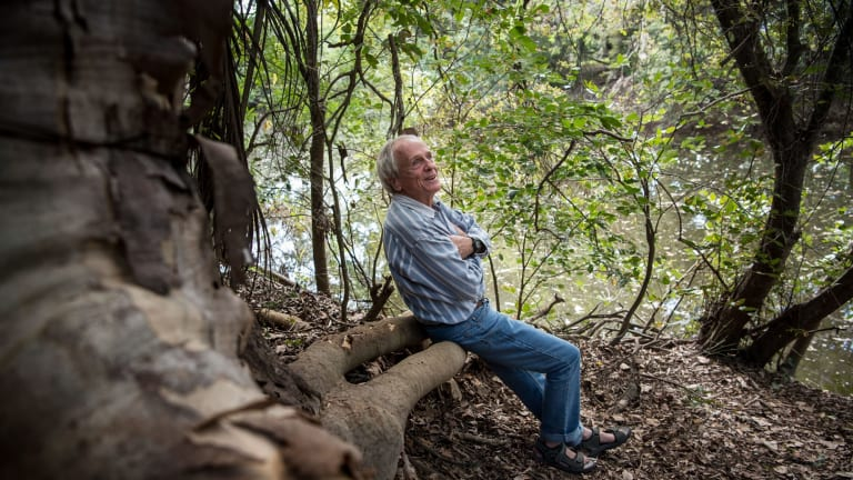 Dr Charlie Veron at favourite spot at home near Townsville.