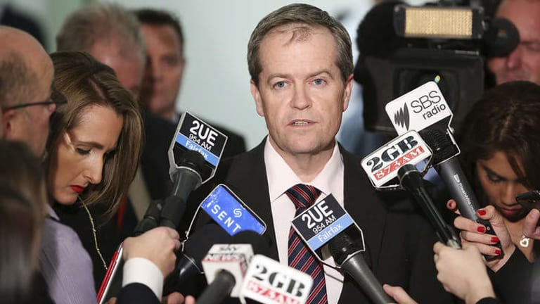 Bill Shorten announces his late decision to switch his support to Kevin Rudd on June 26, 2013.