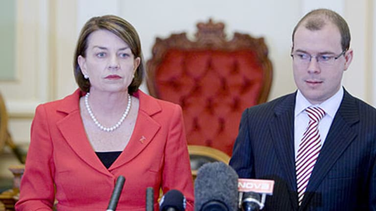 Loss of support ... Queensland Premier Anna Bligh.