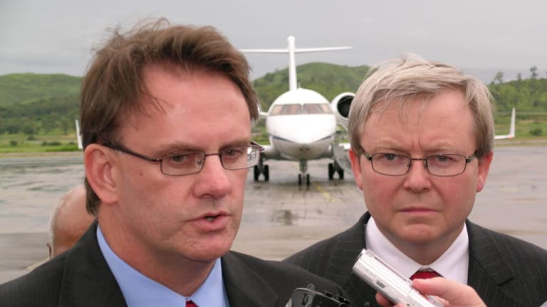 Mark Latham back in the day: was a single handshake his undoing?