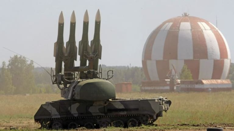A file photo shows the Buk M2 missile system at a 2010 military show in Zhukovsky, Russia, outside Moscow. The Ukraine government says a BUK-M1 system was used to shoot down MH17 with the help of Russian personnel.