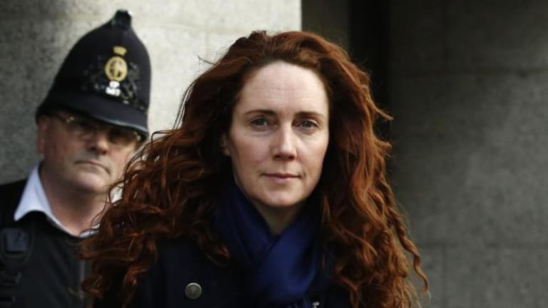 """""""That phrase I did not use"""": Rebekah Brooks at London's Old Bailey this week, where she denied all knowledge of phone hacking."""