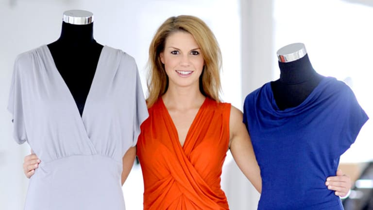 Silky and washable ... Anke Domaske's dresses incorporating Qmilch fabric.