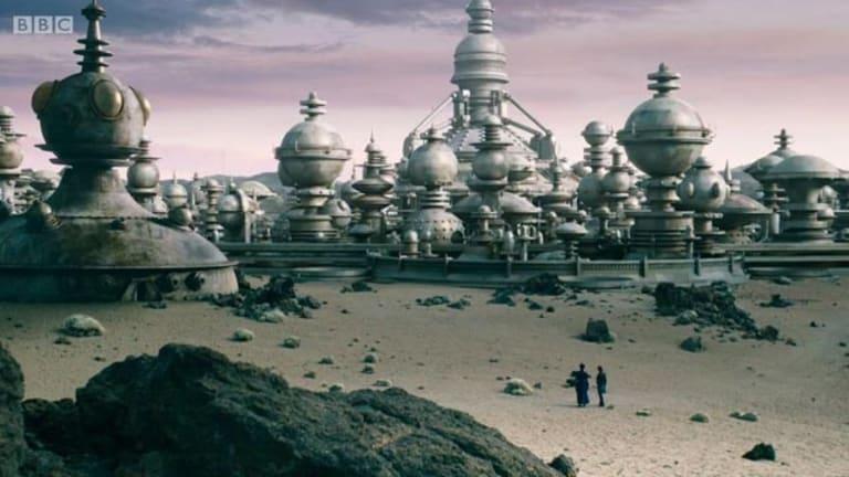 A gleaming Dalek city.