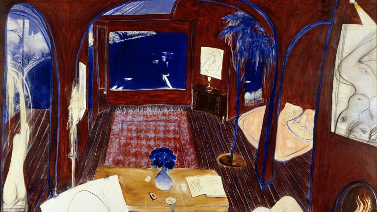 Henri's armchair, Brett Whiteley, 1974-75. Art Gallery of NSW.