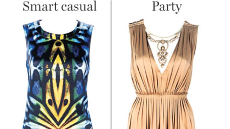 Smart casual and party dressing.