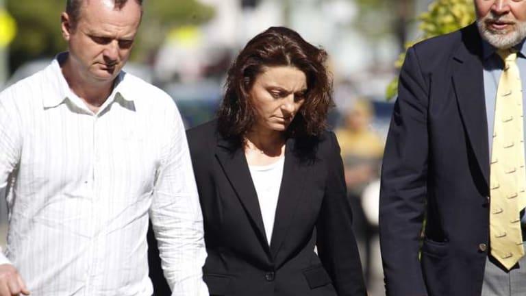 Not guilty: Lidija Sutevska arrives at court.
