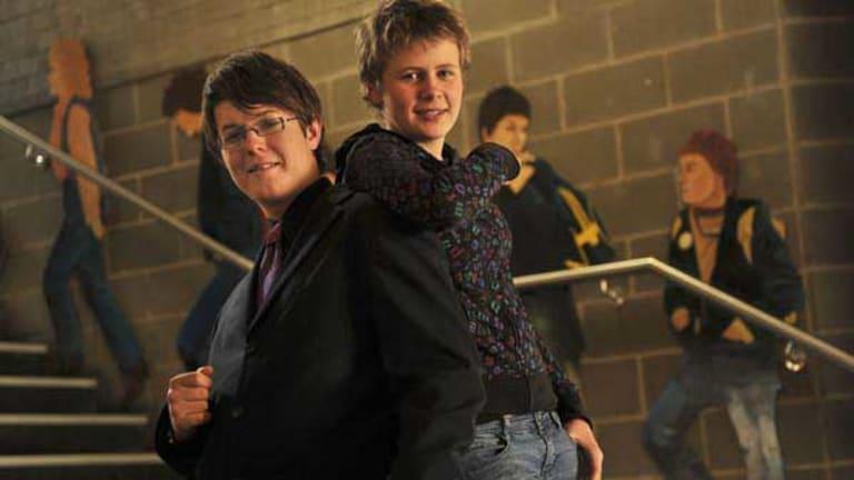 Sam Rodda and Marlee-Alice Gorman 14 at Princes Hill Secondary College..