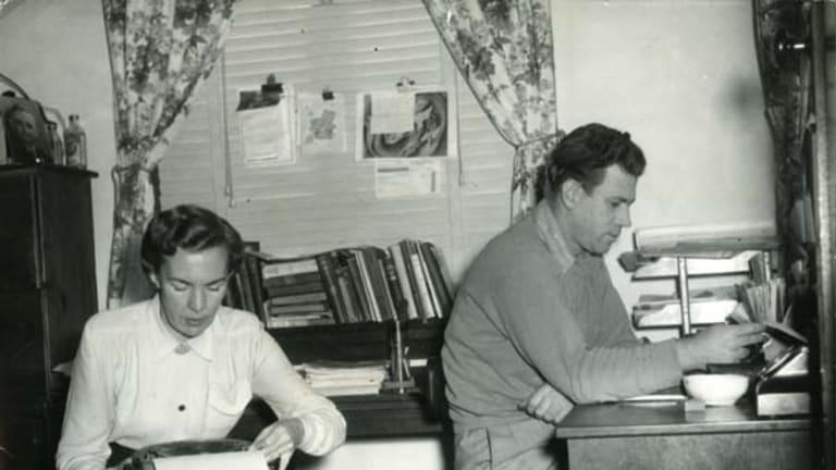 Literary types ... Ruth Park and D'Arcy Niland.