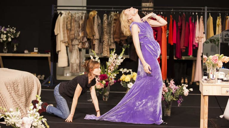 Maids in waiting … Isabelle Huppert and Cate Blanchett rehearse a scene for the STC's production of <i>The Maids</i>.