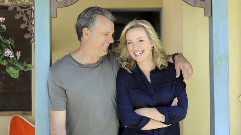 To the rescue: Erik Thompson and Rebecca Gibney.