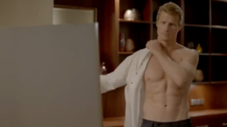 Meet Richie Strahan, star of The Bachelor, including this very necessary shot of his abs BECAUSE HOUSE TRAINED ETCETERA.
