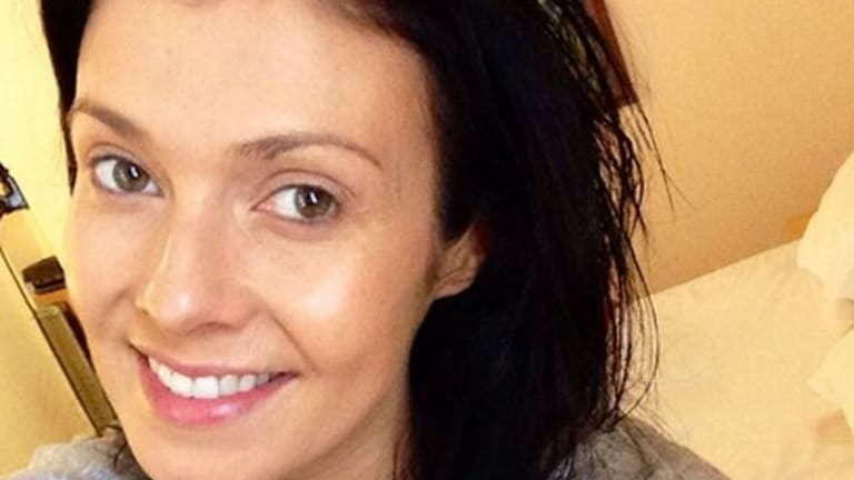 Actress Kym Marsh is supporting the #nomakeupselfie trend.