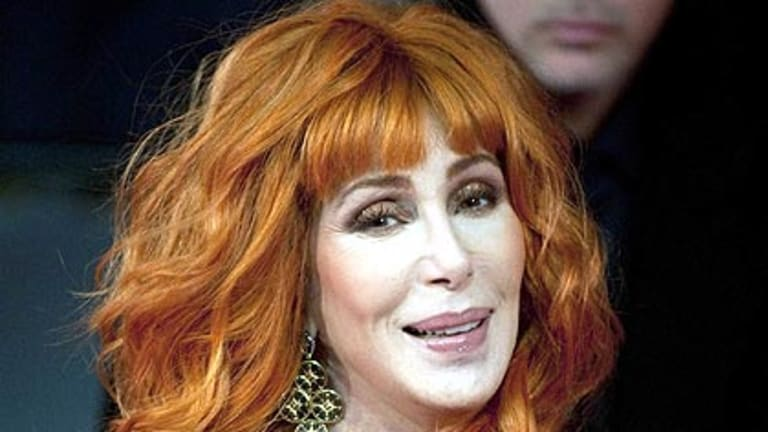 Cher arrives at the Burlesque premiere in London in December.