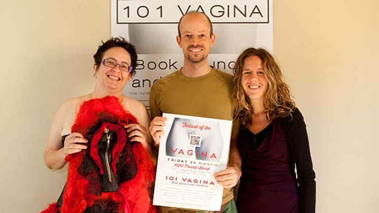 Opening up: Philip Werner with two of the book's particpants, Vanessa Florence at right and Margaret Mayhew.