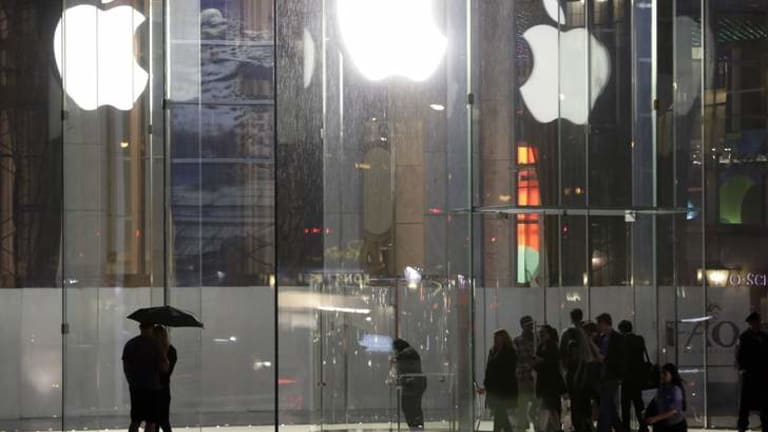 The Big Apple: The Apple store on Fifth Avenue, New York. The technology company  denies participating in the National Security Agency's data collection program.