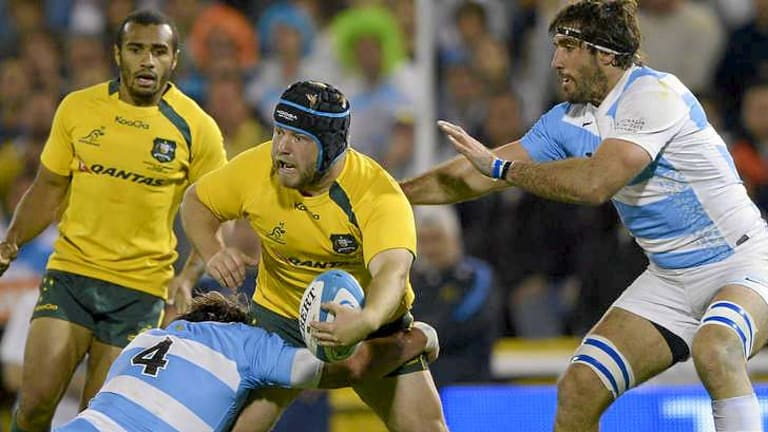 Prop Benn Robinson was strong off the bench for the Wallabies.