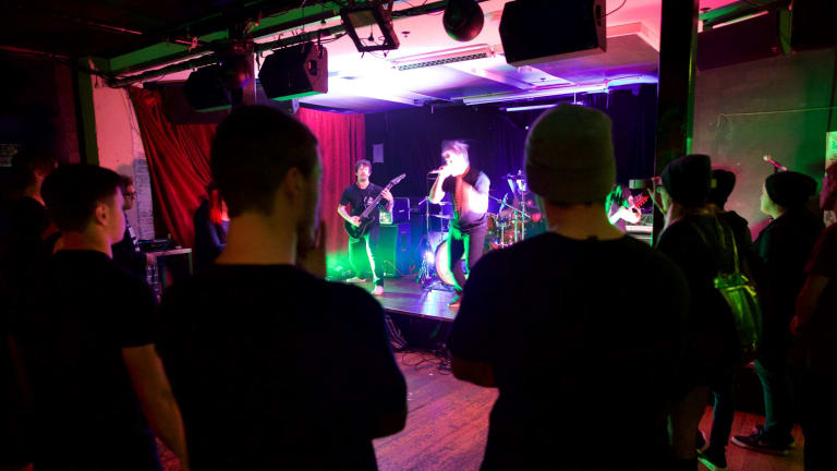 Exchange Hotel, Oxford St, 'Spectrum' Bar. Many Sydney venues are closing down due the the lockout laws.