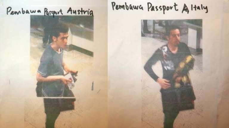 Two men who boarded the Malaysia Airlines flight using stolen passports. The man on the left has been identified as Pouria Nour Mohammad Mehrdad, a 19-year-old Iranian asylum seeker. The man on the right is yet to be identified.