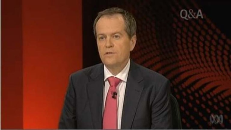 Labor leadership hopeful Bill Shorten outlines his vision for Australia on ABC's Q&A, which includes increasing immigration.