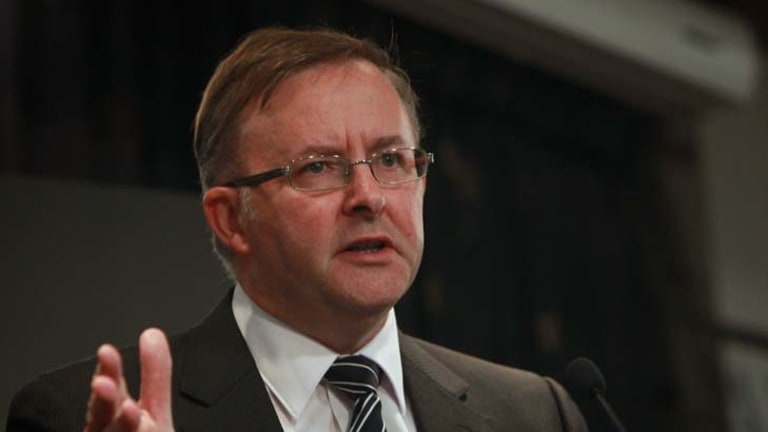 Anthony Albanese addresses the National Press Club of Australia yesterday.