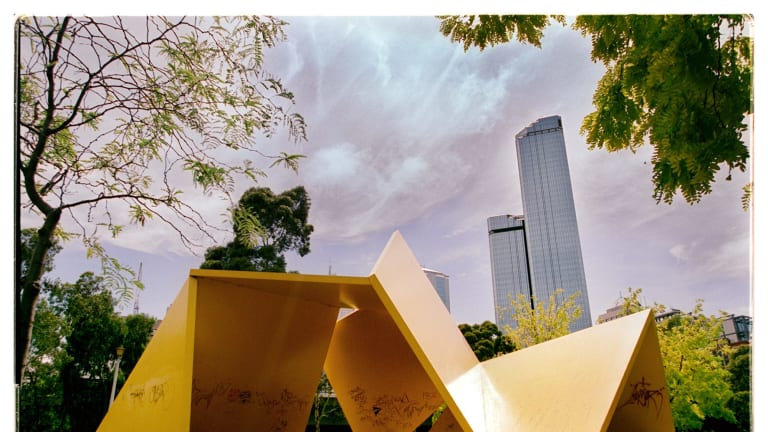 Vault (the sculpture also known as The Yellow Peril ), which was removed from Batman Park in 2002.