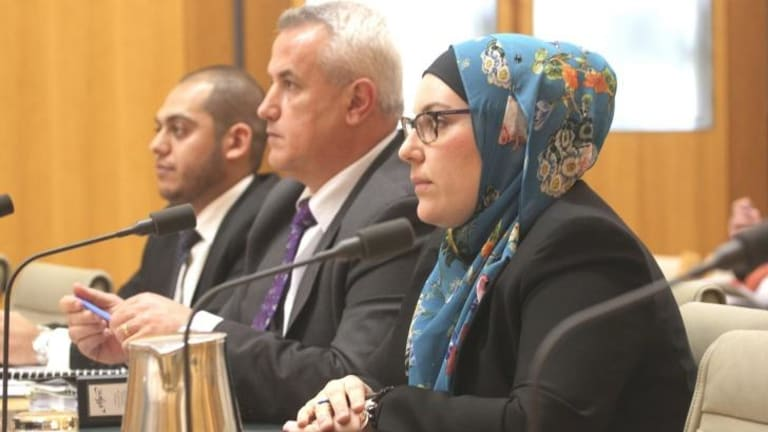 Lydia Shelly of the Muslim Legal Network with Ertunc Yasar Ozen and Moustafa Kheir at Parliament.