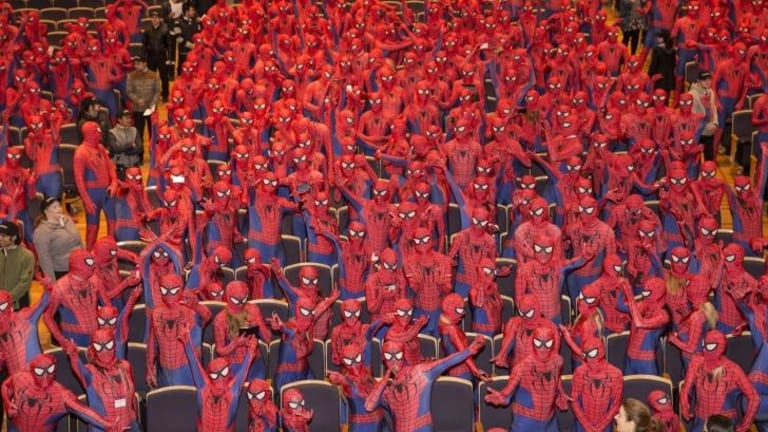Start counting: the Spider-Man world record attempt at City Recital Hall.