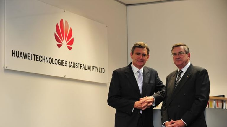 Former Victoria premier John Brumby and navy veteran John Lord are board members of Huawei Australia, along with former foreign minister Alexander Downer.