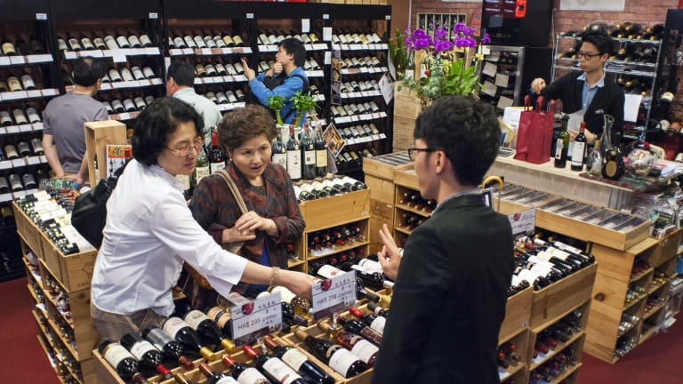 Increased sales are driven by the Chinese perception that red wine has more prestige than white wine.