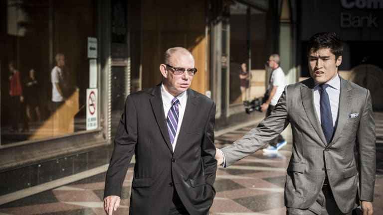Keith Hunter, left, former head of IT delivery services at CBA, was in December 2016 sentenced to 3½ years in prison for his receipt of bribes.