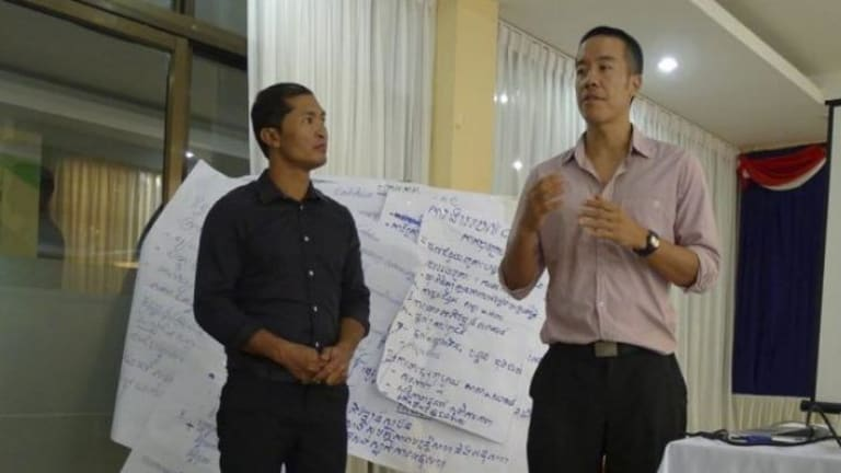 Sydneysider Weh Yeoh who has set up apilot program in speech pathology in Cambodia.