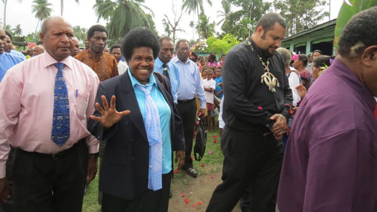 Delilah Gore, former public servant, widow and mother, now an MP and part of Paupa New Guinea's changing political landscape.
