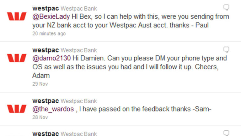 Bank customer service, Twitter style.