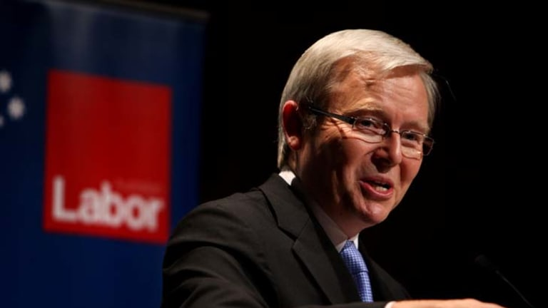 Kevin Rudd ... opening up the Labor party.