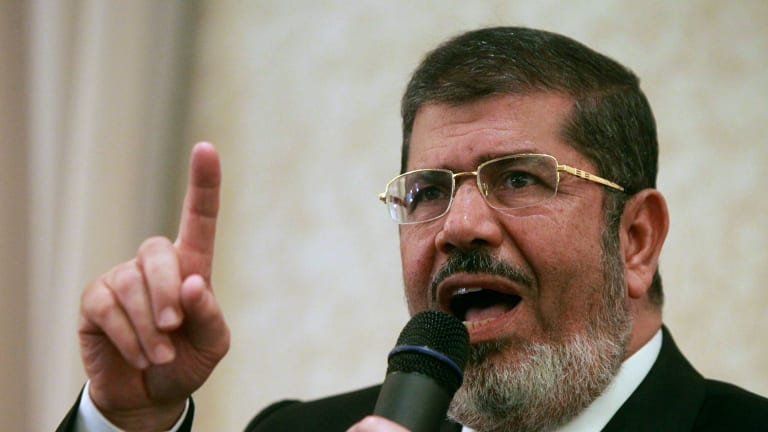 Deposed Egyptian president Mohamed Mursi.