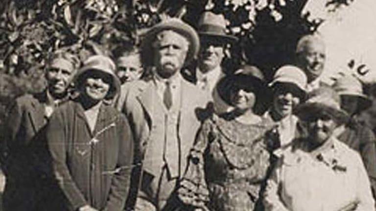 Held protest ... Cooper, centre, founder of the Aborigines Progressive Association.