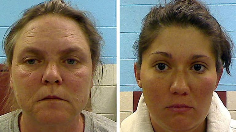 Accused ...  Joyce Hardin Garrard, left, and Jessica Mae Hardin.