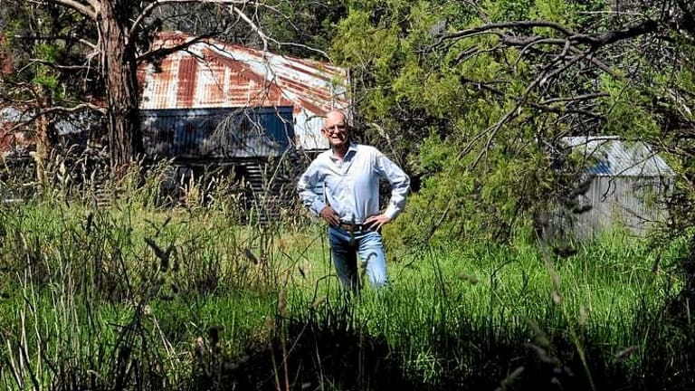 Concerned: Dick Davies worries about the potentially lethal consequences of a bushfire in Warrandyte.