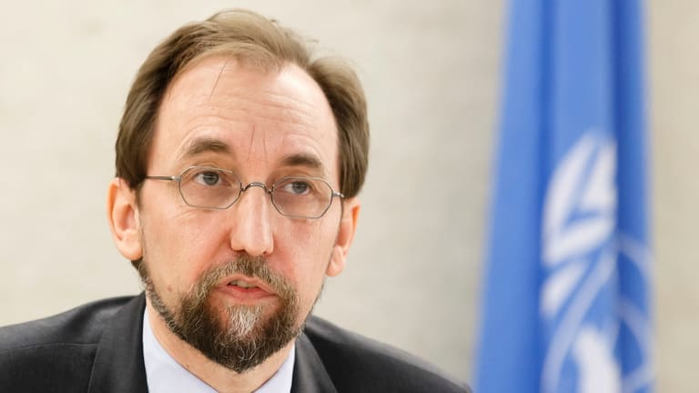 The UN High Commissioner for Human Rights, Zeid bin Raad al-Hussein.