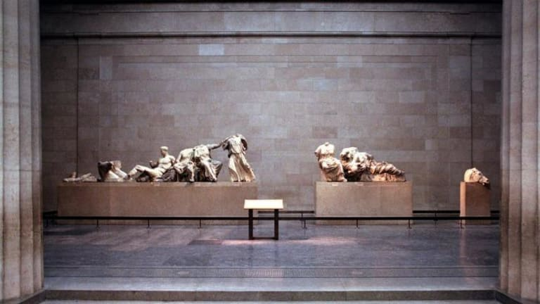 Cultural treasures: Sculptures from the Elgin Marbles at the British Museum in London.
