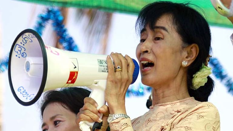 No time for reckless optimism ... Aung San Suu Kyi.