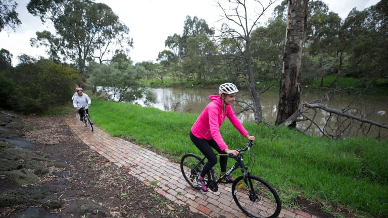 Marina Medved (pink jacket) is a mum in Sunshine that is bucking the unfit trend in the west by starting a women's cycling group in her area.