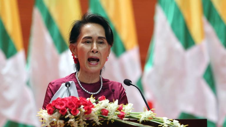 Myanmar's State Counsellor Aung San Suu Kyi has promised offenders will be brought to justice.