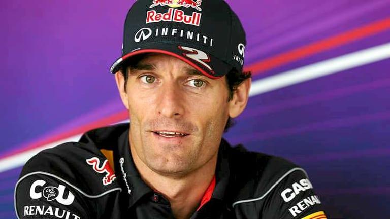 Mark Webber is more than 10kg heavier than his teammate Sebastian Vettel.